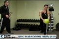 Lunge: with MB Rotational Throw & Catch