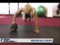 Medicine Ball: Pushups