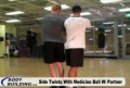 Training Program For Health And Physical Improvement: Partner Side Twists With Ball