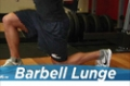 Exercise Guides: Barbell Lunge, Male/Short Clip