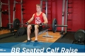 Exercise Guides: Barbell Seated Calf Raise, Male/Short Clip