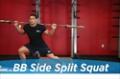 Exercise Guides: Barbell Side Split Squat, Male/Short Clip