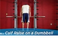 Exercise Guides: Calf Raise On A Dumbbell, Male/Short Clip