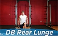 Exercise Guides: Dumbbell Rear Lunge, Male/Short Clip
