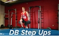 Exercise Guides: Dumbbell Step Ups, Male/Short Clip