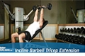 Exercise Guides: Incline Barbell Triceps Extension, Male/Short Clip