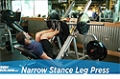 Exercise Guides: Narrow Stance Leg Press, Male/Short Clip