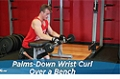 Exercise Guides: Palms-Down Wrist Curl Over A Bench, Male/Short Clip