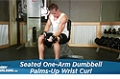 Exercise Guides: Seated One-Arm Dumbbell Palms-Up Wrist Curl, Male/Short Clip