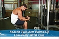 Exercise Guides: Seated Two-Arm Palms-Up Low-Pulley Wrist Curl, Male/Short Clip