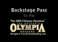 2009 Olympia Backstage Pass Photo Slideshow By Kris Gethin