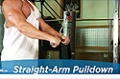 Exercise Guides: Straight-Arm Pulldown, Male/Short Clip