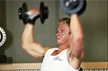 Exercise Guides: Arnold Dumbbell Press, Male/Long Clip