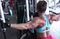 Heather Armbrust's Shoulder Training: Seated Rear Delts