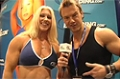 Rob Riches At The 09 Iron Man Expo: IFBB Pro Marika Johansson At The Bodybuilding.com Booth