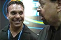 2009 Iron Man Pro: Gaspari Booth -  Lonnie Teper Admires Flex's Calves!