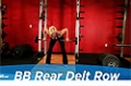 Exercise Guides: Barbell Rear Delt Row, Female/Short Clip