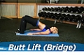 Exercise Guides: Butt Lift (Bridge), Female/Short Clip
