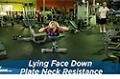 Exercise Guides: Lying Face Down Plate Neck Resistance, Female/Short Clip