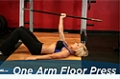 Exercise Guides: One Arm Floor Press, Female/Short Clip