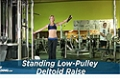 Exercise Guides: Standing Low-Pulley Deltoid Raise, Female/Short Clip