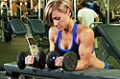 Exercise Guides: Palms-Up Dumbbell Wrist Curl Over A Bench, Female/Long Clip