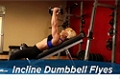Exercise Guides: Incline Dumbbell Flyes, Female/Short Clip
