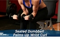 Exercise Guides: Seated Dumbbell Palms-Up Wrist Curl, Female/Short Clip