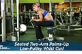Exercise Guides: Seated Two-Arm Palms-Up Low-Pully Wrist Curl, Female/Short Clip