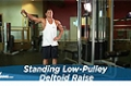 Exercise Guides: Standing Low-Pulley Deltoid Raise, Male/Short Clip