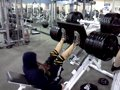 Amateur Bodybuilder Johnnie Peters: 1198lbs Leg Press For 15